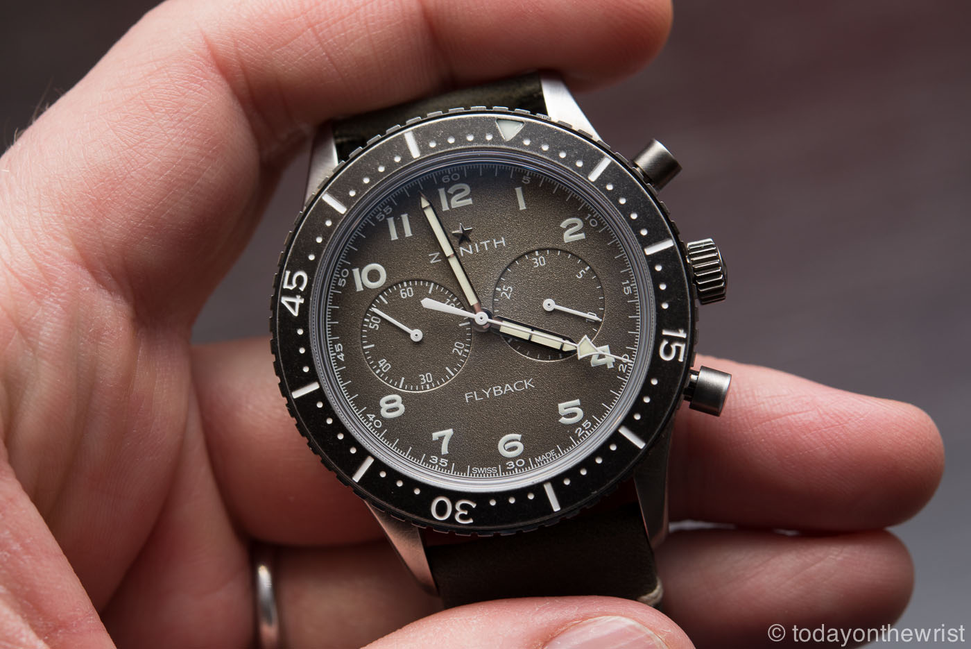 Zenith Pilot Chronometro Tipo CP-2 Flyback aged steel