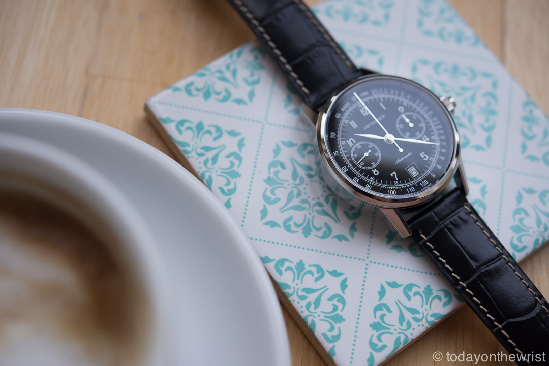 Longines column-wheel Single Push-Piece Chronograph