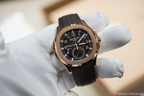 Patek Philippe Aquanaut Travel Time Rose Gold 5164r