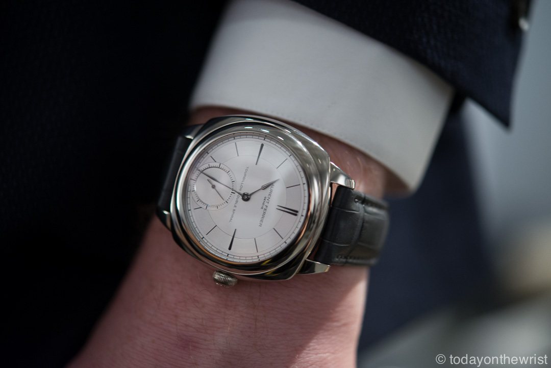 Laurent Ferrier Galet Classic Square Tourbillon Double Spiral Sector Dial