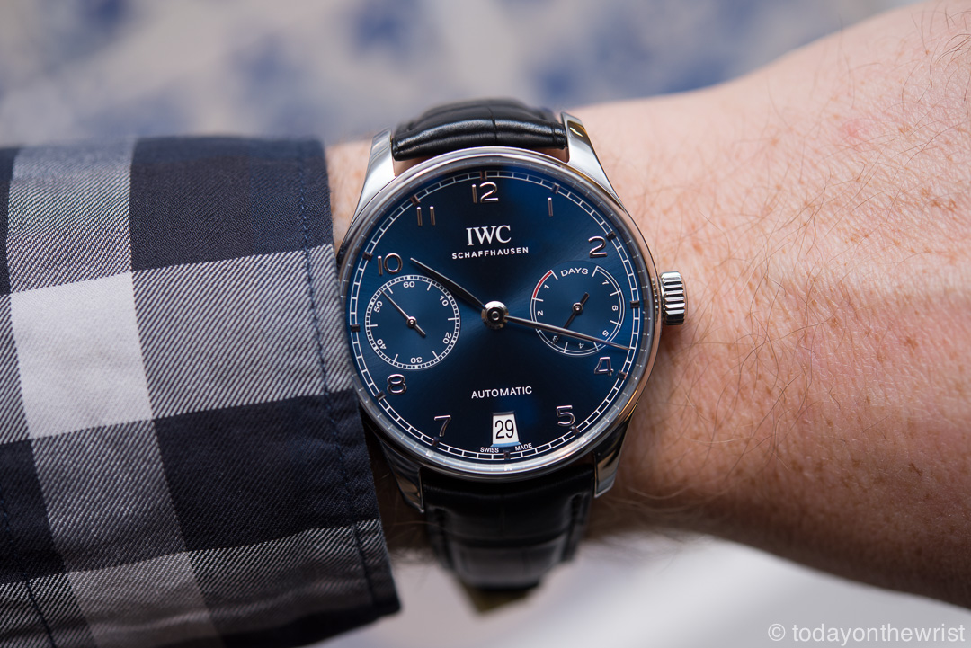 IWC Portugieser Automatic blue dial