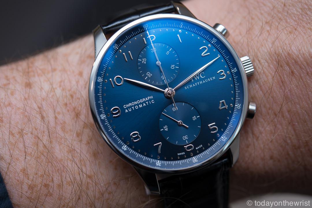 IWC Portugieser Chronograph blue dial