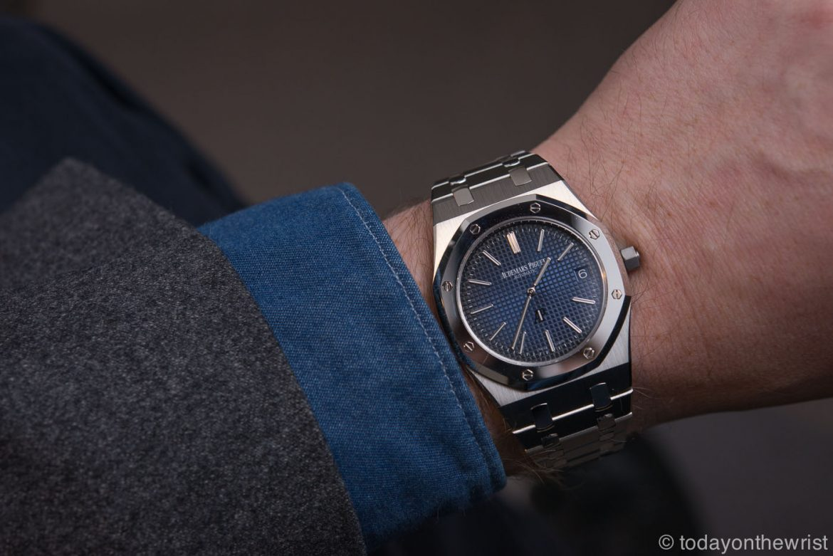 Audemars Piguet Royal Oak Jumbo Extra-Thin 15202IP In Titanium And Platinum