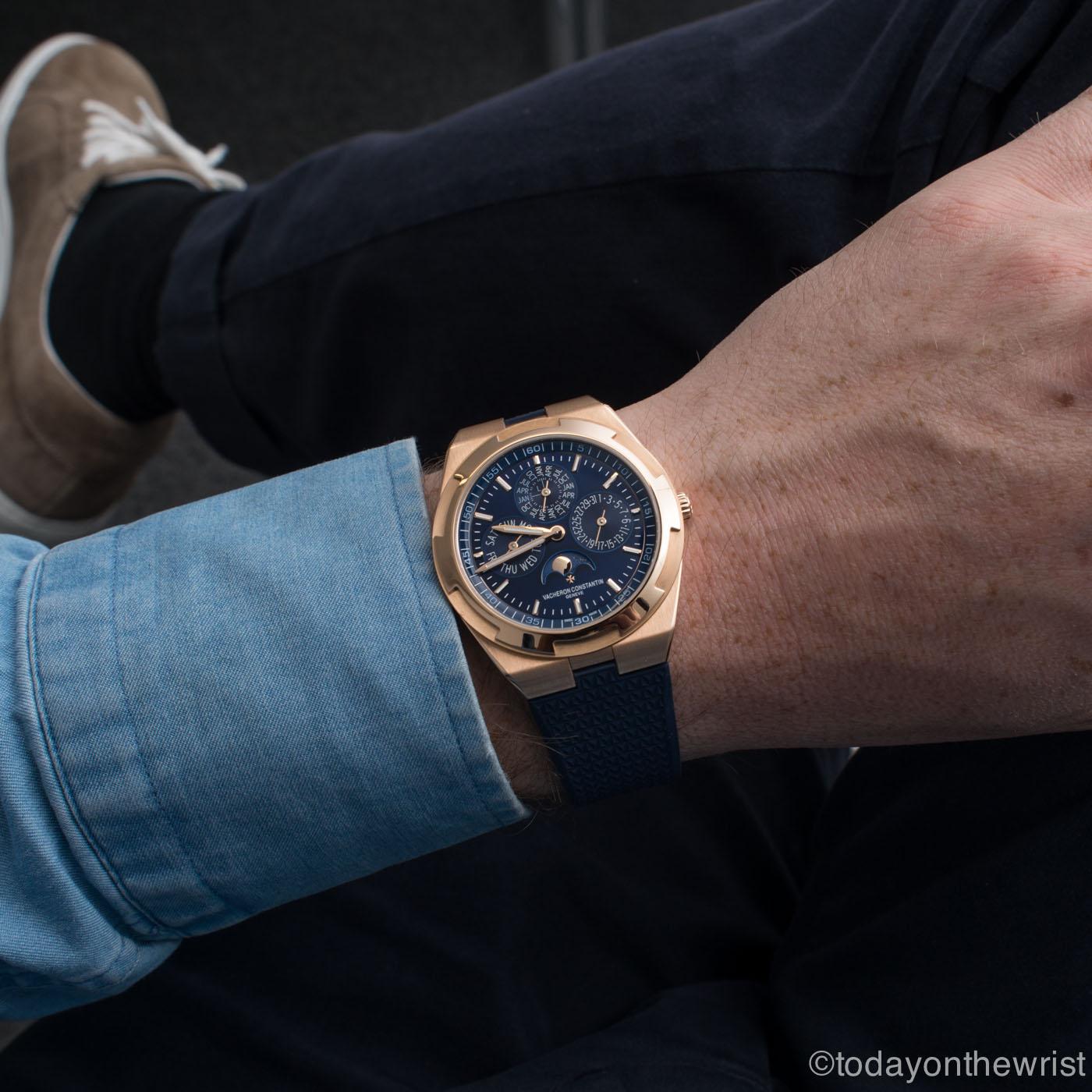 Vacheron Constantin Overseas Perpetual Calendar Ultra-thin Pink Gold Blue dial