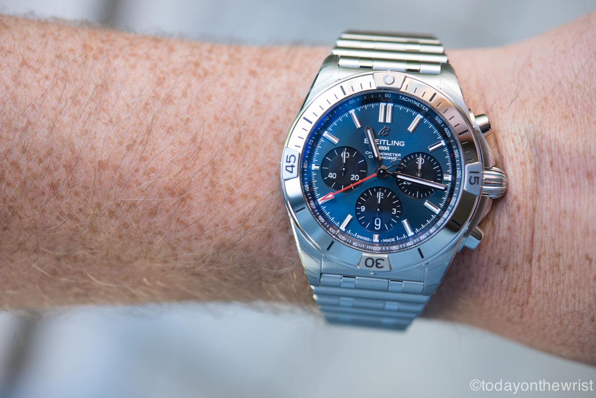 Breitling Chronomat B01 42 blue dial